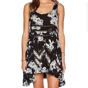 Intimately Free People Floral Voile and Lace Slip